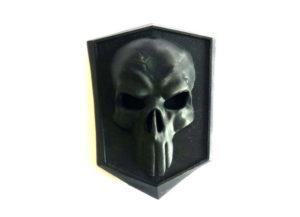 emblème de voiture personnalisée tête de mort