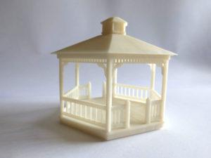 maquette petite échelle d'un kiosque