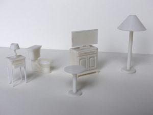 impression de mobilier à très petite échelle