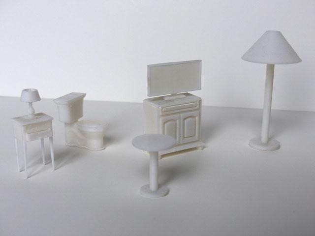 Maquette mobilier d'intérieur – échelle 1:25
